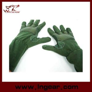 Airsoft MID Arm Full Finger Tactical Flight Gloves pictures & photos