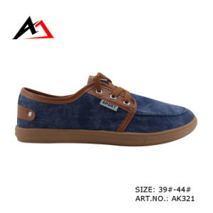 Injection Canvas Shoes Soft Cheap Comfortable for Men (AK321) pictures & photos