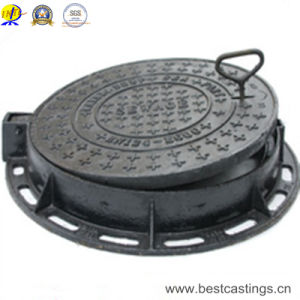 Ductile Iron Round Manhole Cover with Lock Hinge pictures & photos