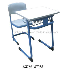 Plastic School Furniture Student Desk and Chair (HK04+KZ02) pictures & photos