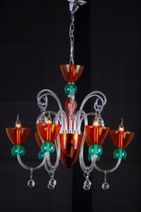 Decoration Glass Chandelier Lighting (QD005-6L) pictures & photos