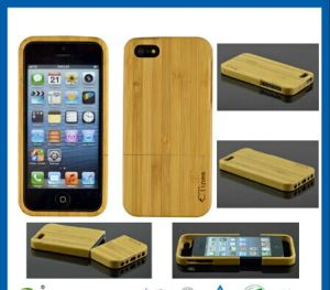 Natural Wooden Hard Bamboo Wood Case Cover for iPhone 5 pictures & photos