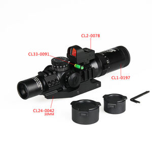 Irf Red DOT Bubble Level 30mm Double Rifle Scope Cl1-0292 pictures & photos