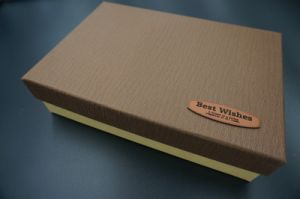 High Quality Gift Box Set Made of Special Leather Paper