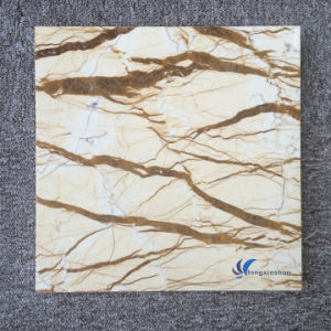 Customized Natural Golden Beige Marble Tiles pictures & photos