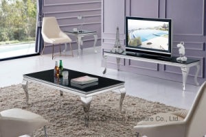 Modern Living Room Black High Gloss Glass Coffee Table pictures & photos