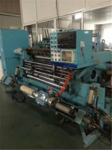 Second Hand Automatic Label Jumbo, BOPP Plastic Film Roll Cutter Slitter pictures & photos