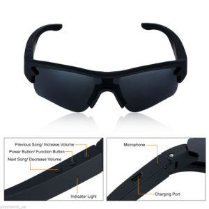 Polarized Sunglasses MP3 Sport Bluetooth Headphone Headset Pair with Two Phones pictures & photos