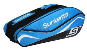 Sunbatta Blue Black Badminton 6-Racket Bag (BGS-2147)