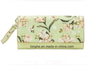 Guangzhou New Design Postcard Printed PU Purses with Zipper (ZX10144) pictures & photos