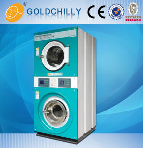Full Automatic Double Stack Washer Extractor Dryer All in One Machine