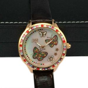 Luxury CNC Inlaid Stones Wrist Watch for Lady Lw-09