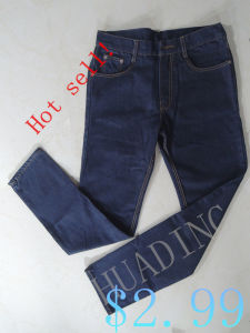 New High Quality Popular Fashion Design Men′s Jeans with Embroidery on Waistband (HDMJ0067) pictures & photos
