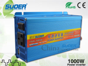 Suoer Power Inverter 1000W Solar Power Inverter 12V to 220V Auto Power Inverter for Home Use (FAA-1000A) pictures & photos