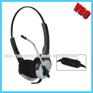 2*3.5mm Stereo Computer Headphone Communication Telephone Headset pictures & photos