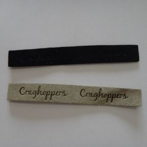 Rectangle Shape Micro Fiber Brands Tags for Clothing