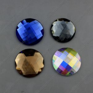 30mm Round Glass Stone Flat Back Jewelry Stones pictures & photos