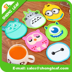 Cute Soft PVC Debossed Funny Cup Mat Pad Table Protector pictures & photos