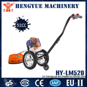 Manual Durable Handpush Brush Cutter with Wheels Lawn Mower pictures & photos