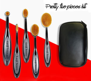 New Five Pieces Durable Kits Toothbrush Oval Makeup Brush