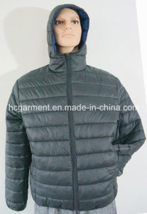 Winter Cotton Parka Hooded Coat Warm Jacket for Man pictures & photos