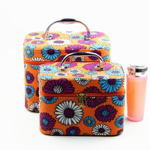 Lady Gift Beautiful Pattern PU Leather Cosmetic Box pictures & photos