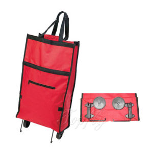 Portable Folding Trolley Bag with PP Wheels pictures & photos