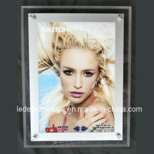 New Wall-Mounted A4 Crystal LED Light Box for Advertising pictures & photos