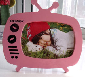 Pink Painting TV Shape Baby Photo Frame pictures & photos
