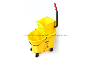 Plastic Side Press Double Bucket Mop Wringer pictures & photos