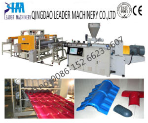 1040mm Width UPVC/PVC Bamboo Roofing Sheet Extrusion Line pictures & photos