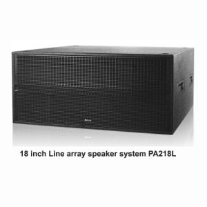 "China PA218L PA Audio Dual 18"" Line Array Subwoofer pictures & photos"