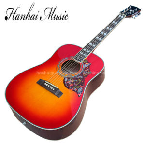 Hanhai Music / 41′′ Folk Acoustic Guitar with Cherry Sunburst Color pictures & photos