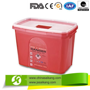 Hospital Plastic Sharps Containers (SKQ003) pictures & photos