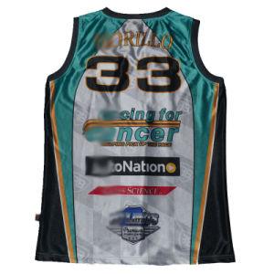 Custom Basketball Singlet/Vest/Sublimation Basketball Singlet pictures & photos