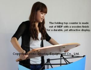 Trade Show Stand Portable Counter Kiosk with Pop-up Design pictures & photos