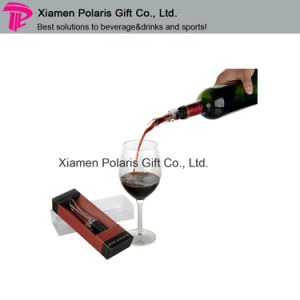 Eco-Friendly Plastic Measured Red Wine Pourer as Promotion Gift pictures & photos