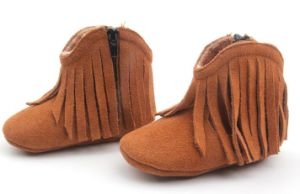 Winter Infant Suede Leather Wholesale Baby Boots for Girls