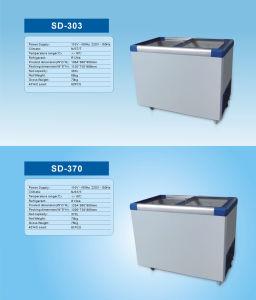 Horizontal Glass Door Refrigeration/Freezing Change-Over Freezer SD-370 pictures & photos