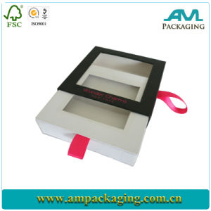 Small Magnetic Paper Jewelry Ribbon Handle Gift Box pictures & photos