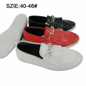 New Style Men′s Slip on Tassel Casual Leather Shoes (MP16721-16) pictures & photos