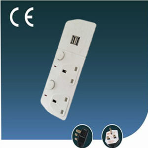 Two Ways UK Style Electric Socket with USB and Socket