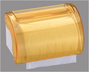 Hotel Publicl Toilet Wholesale Yellow Translucent Round Plastic Wall Mounted Tissue Paper Towel Roll Dispenser Holder