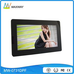 China Factory Mirror Frame 7′′ Digital Picture Frame with Rechargeable Battery pictures & photos