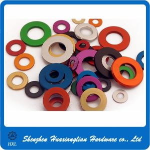 OEM Different Color Anodized Aluminum Flat Washer pictures & photos