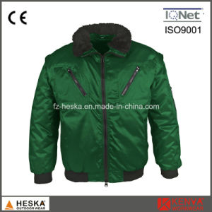 Mens 3 in 1 Detachable Sleeve Workwear Pilot Jacket Winter Bomber Jacket pictures & photos