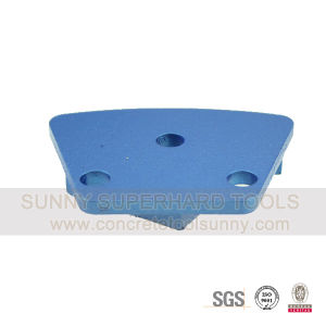 Trapezoid Magnetic Diamond Metal Bond Floor Grinding Pad Shoe Plate Tools for Concrete Terrazzo pictures & photos