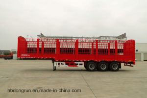 3 Axle Cargo Truck/Stake/Fence Trailer with Goose Neck Type