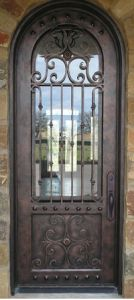Medium Copper Finished Iron Single Door pictures & photos