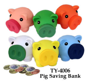 Funny Six Colors Pig Bank Toy pictures & photos